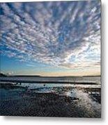 Discovery Park Beach Sunset Metal Print