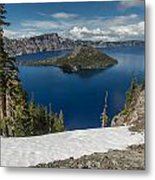 Discovery Point And Wizard Island Metal Print
