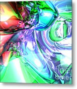 Disorderly Color Abstract Metal Print