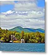 Distant Lake View In Spring Metal Print