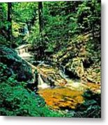 Distant Ozone Falls And Rapids - Summer Metal Print