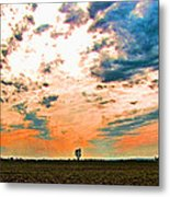 Distant Tree Metal Print