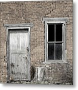 Distressed Facade Metal Print