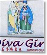 Diva Girl Metal Print