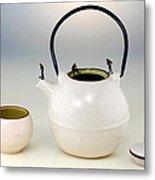 Diving On Tea Pot And Cup Metal Print