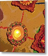 Diwali Colors By Candle Metal Print