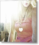 Mschronicchronicles Sunshine Lady Metal Print