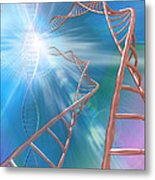 Dna Helices Metal Print