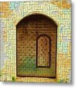 Do-00489 Old Door Within A Door-crackles Metal Print