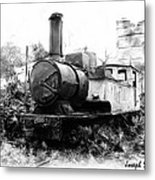 Do-00508 Mar Mikhael Train Bw Metal Print