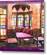 Do-00520 Emir Bachir Palace Interior-violet Bkgd Metal Print