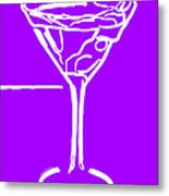 Do Not Panic - Drink Martini - Purple Metal Print by Wingsdomain Art and Photography
