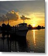 Dock Of The Bay In Florida  Metal Print