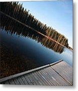 Dock On Northern Manitoba Lake Metal Print