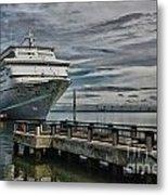 Docked Cruise Ship Three Metal Print