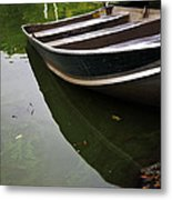 Docked In Central Park Metal Print