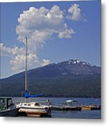 Docks At Diamond Lake Metal Print