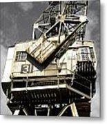 Dockside Crane Metal Print