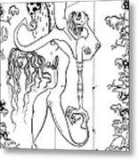 Doctor Vultura's Proportional Sky-fish Daughters  Metal Print by Kelly Jade King