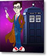 Doctor Who And Tardis Metal Print