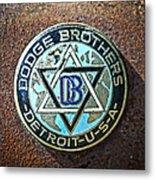 Dodge Brothers Badge Metal Print by Steve McKinzie