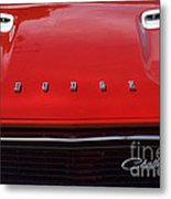 Dodge Challenger Hood And Grill Metal Print