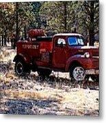 Logging Fire Truck Metal Print