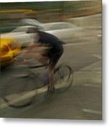 Dodging The Taxi Metal Print