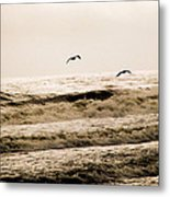 Dodging The Waves Metal Print