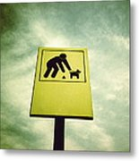 Dog Fouling Sign Metal Print