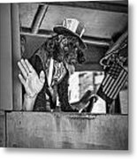 Dog On The Campaign Trail Metal Print