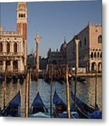 Doges Palace And San Marcos Bell Tower Metal Print