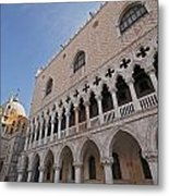 Doges Palace Off Piazza San Marco Or Metal Print