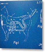 Doggie Vacuum Patent Artwork Metal Print