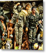 Doll - Gi Joe In Camo Metal Print