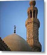 Dome And Minaret Of Mosque Of Barquq Metal Print