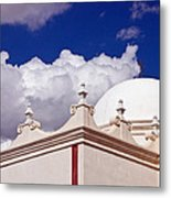 Dome Of The Mission San Xavier Metal Print
