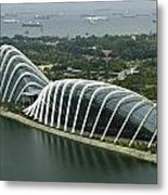 Domes Inside The Gardens By The Bay In Singapore Metal Print