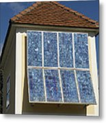Domestic Solar Panel Metal Print by Friedrich Saurer