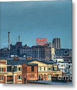 Domino Sugars Sign Day Metal Print