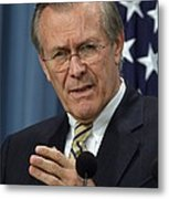Donald H. Rumsfeld Secretary Of Defense Metal Print