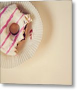 Donut With Jelly Metal Print
