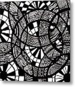 Doodle Circular  Metal Print