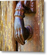 Door Knocker Metal Print