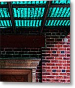 Door With Green Overhang Metal Print by HD Connelly