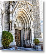 Doorway Sacred Heart Cathedral Metal Print