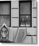 Dos Windows In Black And White Metal Print