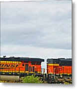 Double Bnsf Engines Metal Print