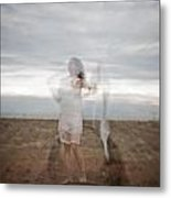 Double Image Ghost Metal Print
