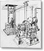 Double Oscillating Steam Engine Metal Print